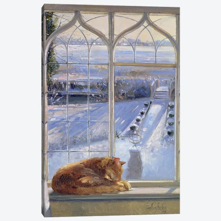 Sundial And Cat Canvas Print #EST46} by Timothy Easton Canvas Art Print