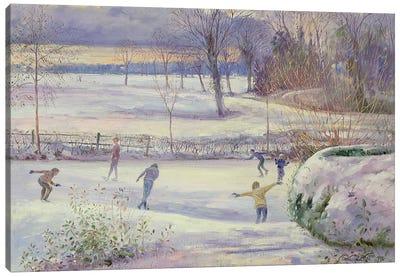 The Skating Day Canvas Art Print
