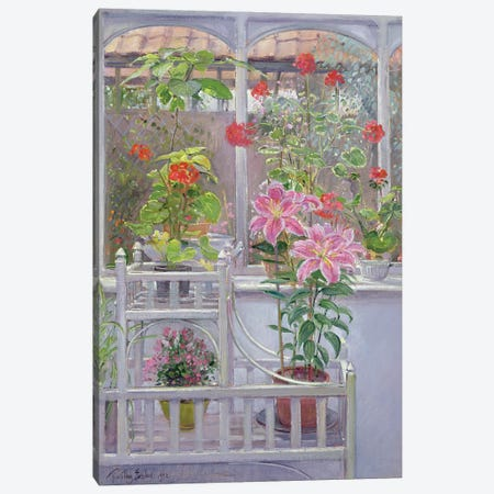 Through The Conservatory Window, 1992 Canvas Print #EST53} by Timothy Easton Art Print
