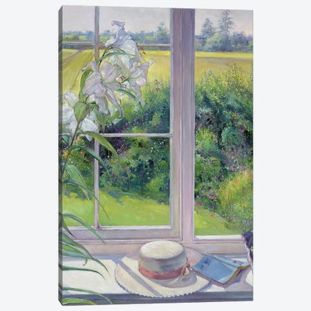 Window Seat And Lily (In Zoom), 1991 Canvas Print #EST57} by Timothy Easton Canvas Art