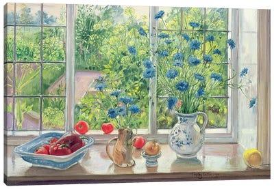 Cornflowers And Kitchen Garden Canvas Art Print
