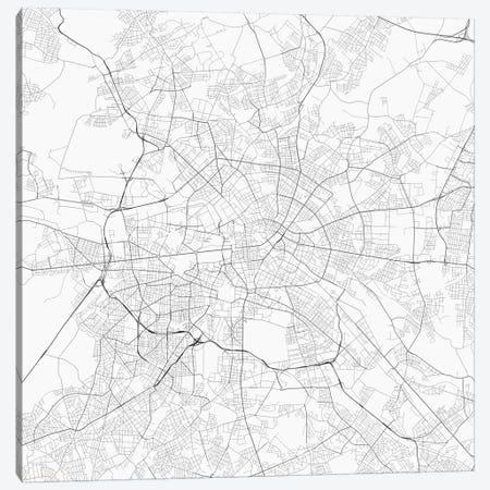 Berlin Urban Roadway Map (White) Canvas Print #ESV107} by Urbanmap Canvas Art Print
