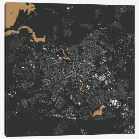 Minsk Urban Map (Gold) Canvas Print #ESV210} by Urbanmap Canvas Artwork