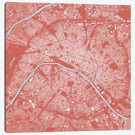 Paris Urban Map (Pink) Canvas Print #ESV254} by Urbanmap Art Print
