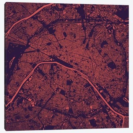 Paris Urban Map (Purple Night) Canvas Print #ESV255} by Urbanmap Art Print