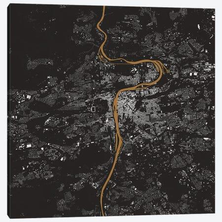 Prague Urban Map (Gold) Canvas Print #ESV261} by Urbanmap Art Print