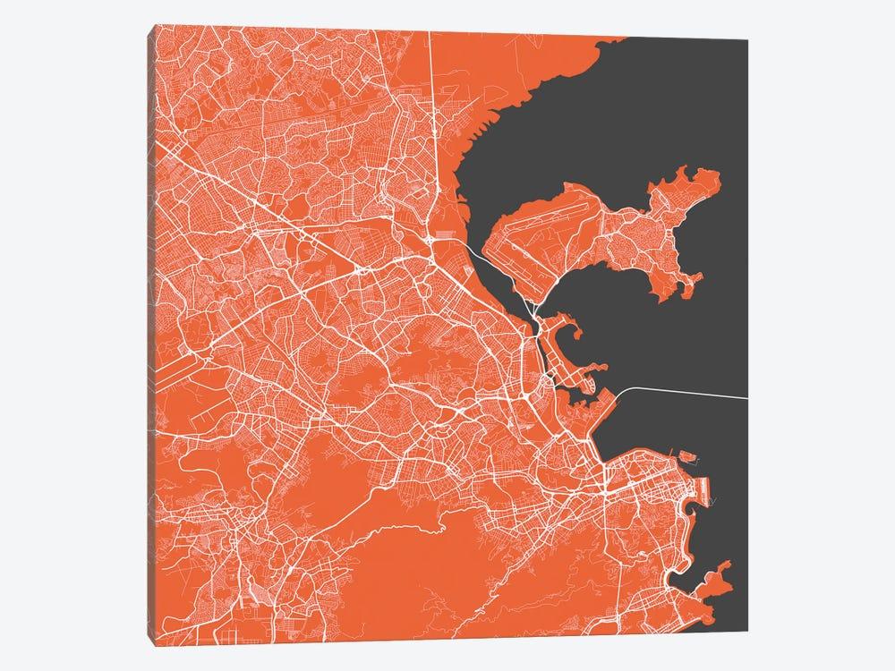Rio de Janeiro Urban Map (Red) by Urbanmap 1-piece Art Print