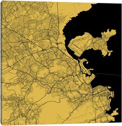 Rio de Janeiro Urban Map (Yellow) Canvas Print #ESV285