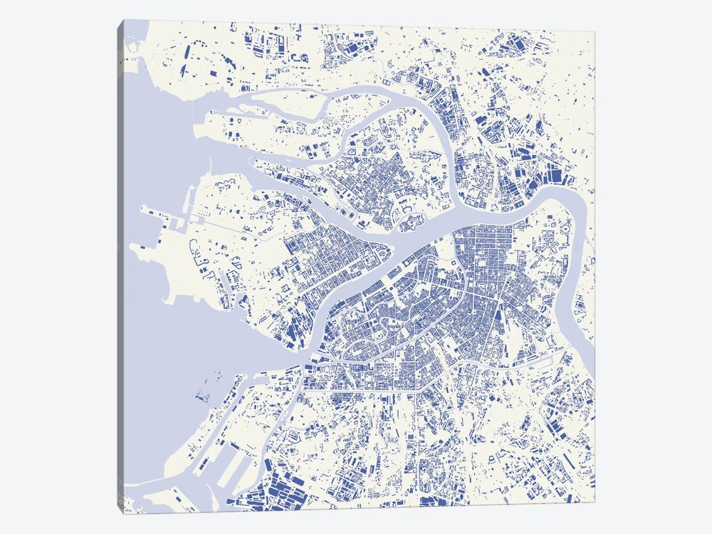 St. Petersburg Urban Map (Blue) by Urbanmap 1-piece Art Print