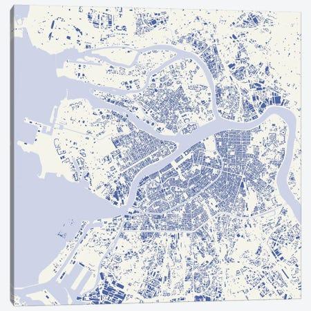 St. Petersburg Urban Map (Blue) Canvas Print #ESV342} by Urbanmap Canvas Art