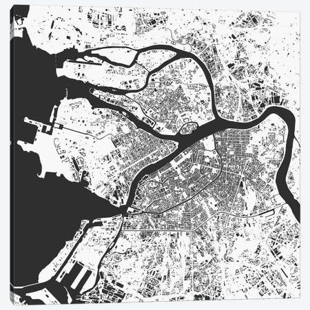 St. Petersburg Urban Map (White) Canvas Print #ESV347} by Urbanmap Canvas Print