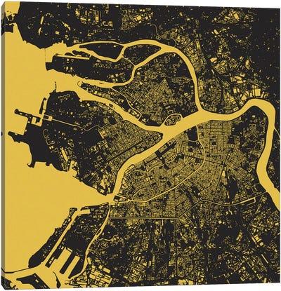 St. Petersburg Urban Map (Yellow) Canvas Art Print