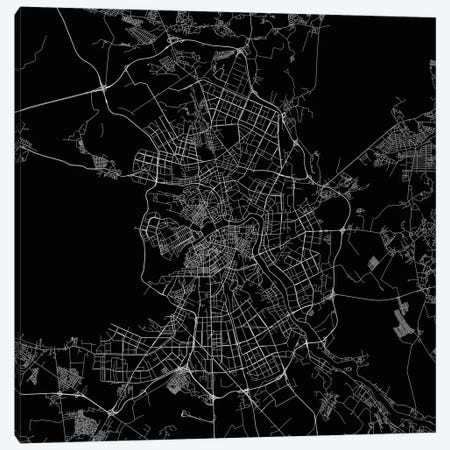 St. Petersburg Urban Roadway Map (Black) Canvas Print #ESV349} by Urbanmap Canvas Artwork