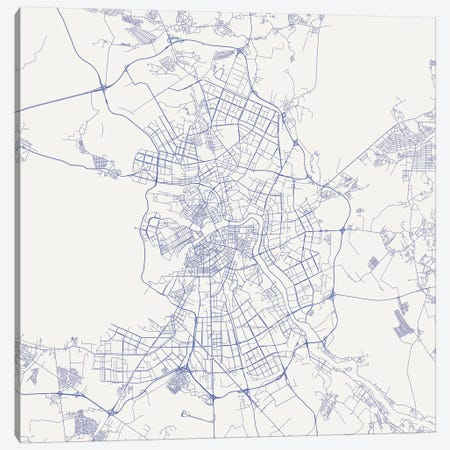 St. Petersburg Urban Roadway Map (Blue) Canvas Print #ESV350} by Urbanmap Canvas Print