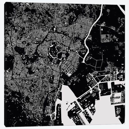 Tokyo Urban Map (Black) Canvas Print #ESV358} by Urbanmap Canvas Art Print