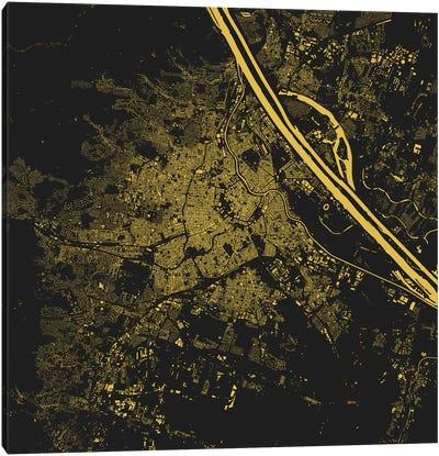 Vienna Urban Map (Yellow) Canvas Print #ESV393