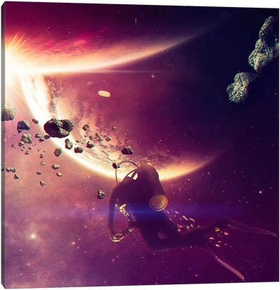 AstroDiver Canvas Art Print