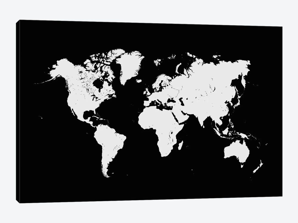 World urban map black canvas art print by urbanmap icanvas world urban map black by urbanmap 1 piece canvas artwork gumiabroncs Gallery
