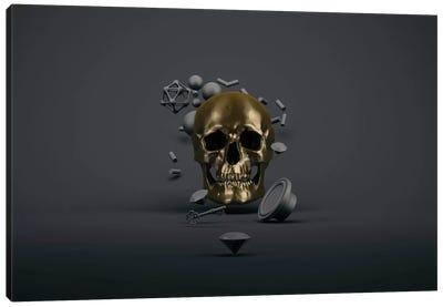 Golden skull Canvas Print #ESV43
