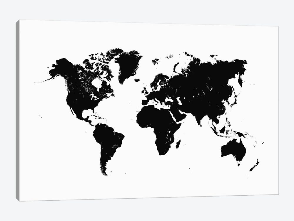 World Urban Map (White) 1-piece Canvas Artwork