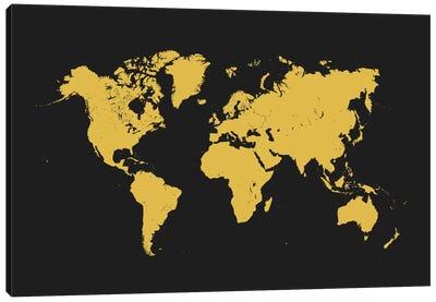 World Urban Map (Yellow) Canvas Print #ESV447