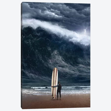 Surf Cataclysm Canvas Print #ESV454} by Evgenij Soloviev Art Print
