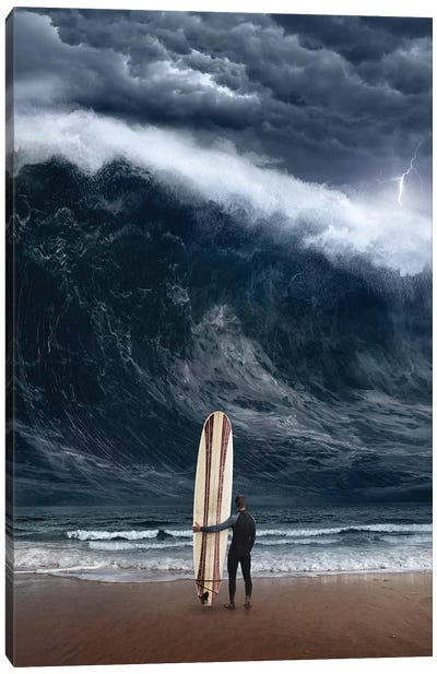 Surf Cataclysm Canvas Art Print