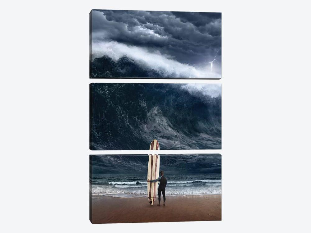 Surf Cataclysm by Evgenij Soloviev 3-piece Art Print