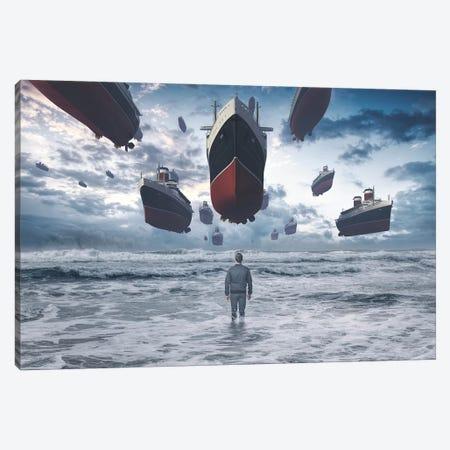 Kopabli 3-Piece Canvas #ESV460} by Evgenij Soloviev Canvas Print