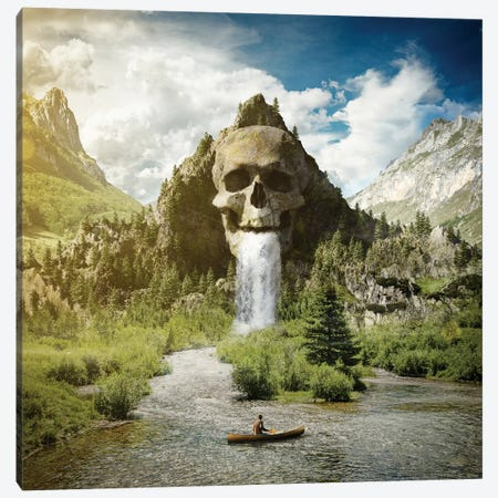 Skull Mountain Canvas Print #ESV470} by Evgenij Soloviev Canvas Art