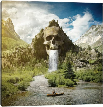 Skull Mountain Canvas Art Print