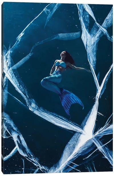 Ice Mermaid Canvas Art Print
