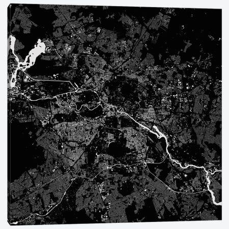 Berlin Urban Map (Black) 3-Piece Canvas #ESV91} by Urbanmap Art Print