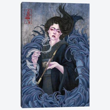 Last Breath In The Night Canvas Print #ETA13} by Etara Art Print
