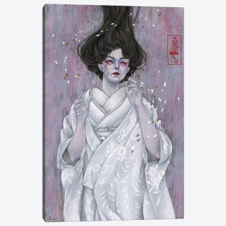 Like Petals On Snow Canvas Print #ETA16} by Etara Canvas Wall Art
