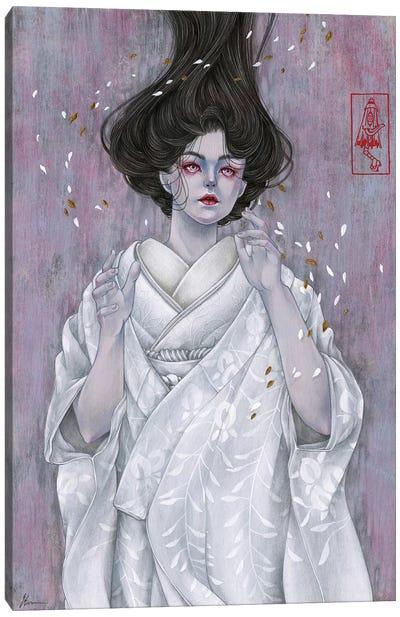 Like Petals On Snow Canvas Art Print