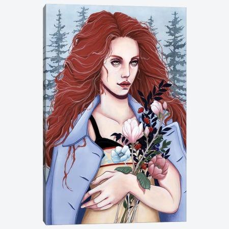 Wild Flowers Canvas Print #ETA25} by Etara Art Print