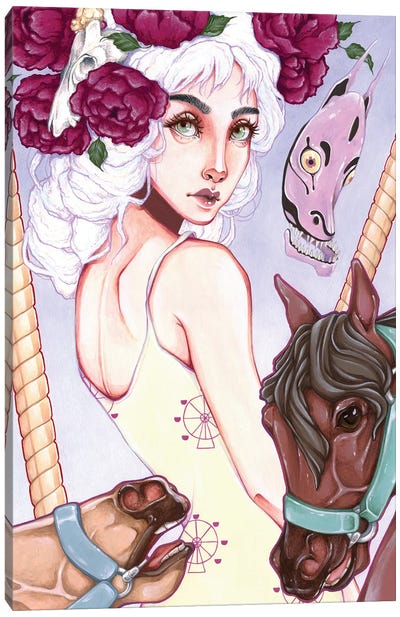 Carousel Horses Canvas Art Print