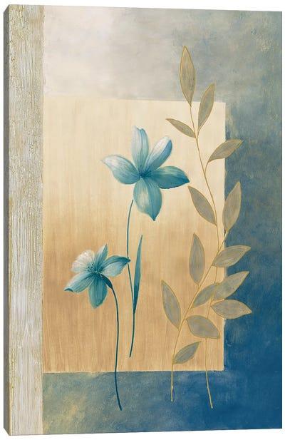 Fleurs bleues I Canvas Art Print