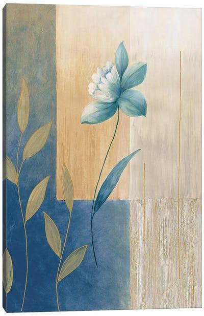 Fleurs bleues II Canvas Art Print