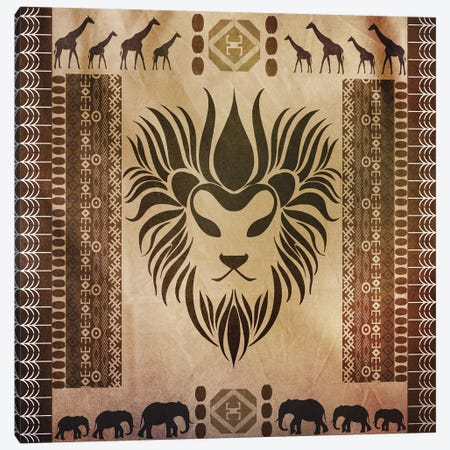 King of Africa Canvas Print #ETGY4} by iCanvas Canvas Art Print
