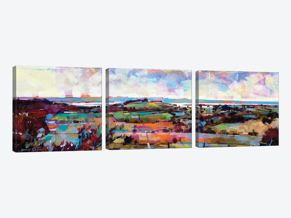 The Severn From Blakeney Hill by Doug Eaton 3-piece Canvas Art Print