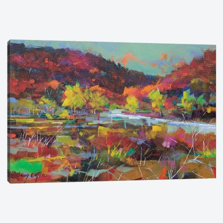 Wye Valley Memories Canvas Print #ETN15} by Doug Eaton Canvas Art Print