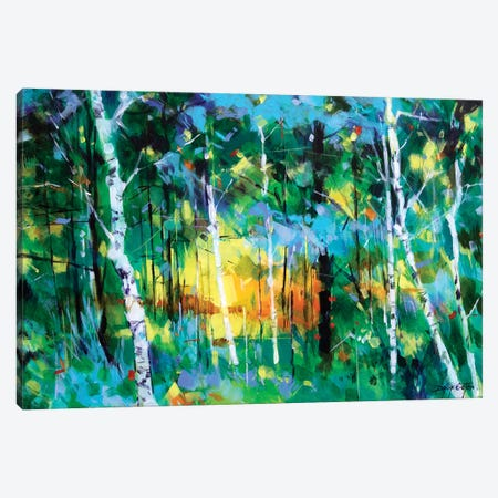 Birch Near Edge End Canvas Print #ETN16} by Doug Eaton Art Print