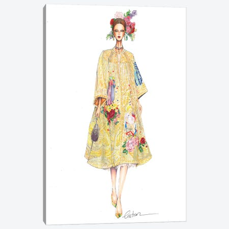 Dolce Gabbana Haute Couture 2016 Canvas Print #ETR19} by Eris Tran Canvas Artwork