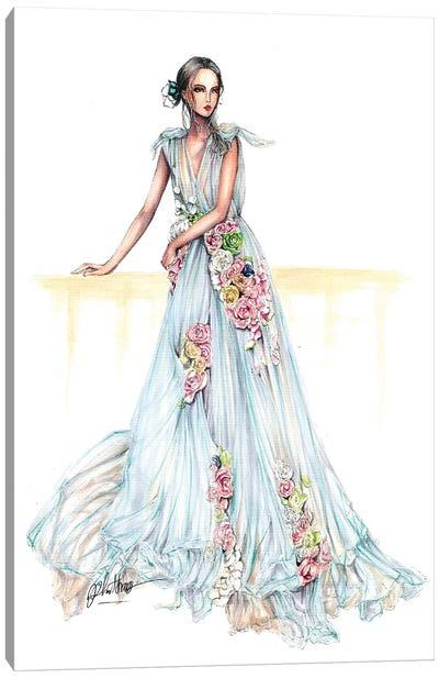 Flower Haute Couture Dress Canvas Art Print