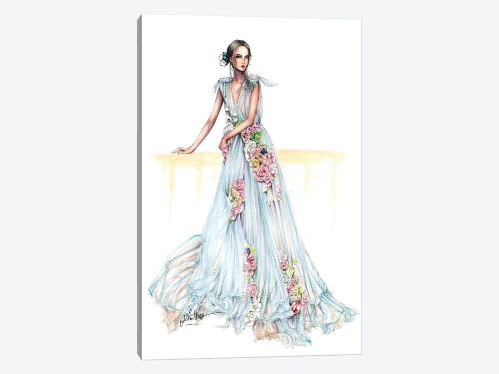 Flower Haute Couture Dress by Eris Tran 1-piece Canvas Art Print