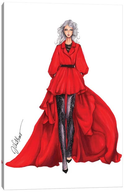 Georges Chakra Haute Couture Fall 2016 Canvas Art Print