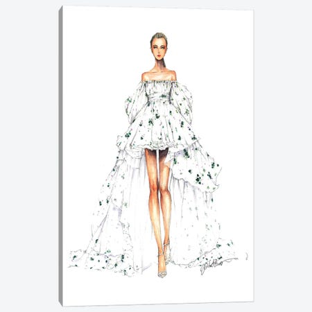 Giambatistta Valli Haute Couture Fall 2016 Canvas Print #ETR43} by Eris Tran Canvas Print