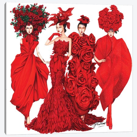 The Muse By Do Manh Cuong 3-Piece Canvas #ETR64} by Eris Tran Canvas Art
